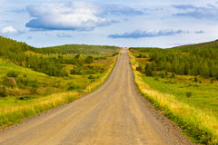 Landscape with Curve Road at North Iceland Stock Image