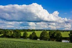 Landscape Czech countryside. Summer landscape in Czech countryside royalty free stock photos