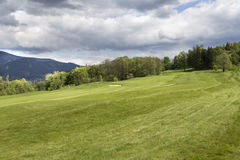 Landscape with czech golf course. Ostravice Stock Photo