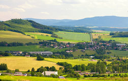Landscape in the Czech Republic, summer season Royalty Free Stock Photos