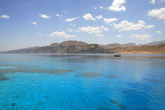 Landscape of Dahab lagoon. Egypt. Red Sea. royalty free stock photography