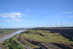 Landscape of dam with blue sky Stock Images