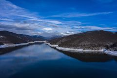 Landscape with dam lake Vidraru. Landscape with dam lake Vidraru, in Romania stock images