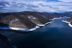Landscape with dam lake Vidraru. Landscape with dam lake Vidraru, in Romania stock image