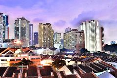Landscape of the Damansara Perdana. Amazing Night View royalty free stock image