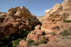 Landscape of Dana National Park, Jordan Royalty Free Stock Photo