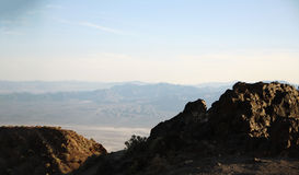 Landscape from dantes view in death valley national park. Dantes view at death valley Stock Photo