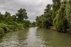 Landscape in the Danube Delta, Romania, Europe. Danube Delta in Romania Europe Nature bird reservation royalty free stock images