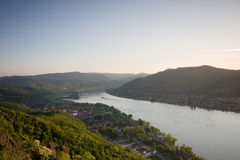 Landscape with Danube river Stock Images