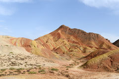 Landscape of Danxia landform Royalty Free Stock Photos