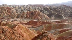 Landscape of Danxia landform Stock Images