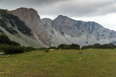 Landscape with Dark clouds over Sinanitsa peak, Pirin Mountain Royalty Free Stock Photos