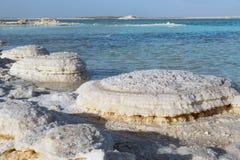 Landscape of the Dead Sea, Israel. Salt deposits, typical landscape of the Dead Sea, Israel royalty free stock photography