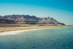 Landscape with dead sea. View of Dead Sea coastline Stock Photo