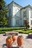 Landscape decorations in the streets of the old Veliko Tarnovo Royalty Free Stock Photography