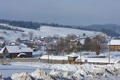 landscape den lantliga vintern Royaltyfria Bilder