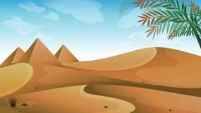 A landscape at the desert Royalty Free Stock Images