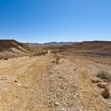 Landscape of the desert in Israel Stock Images