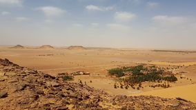 Landscape of the desert sahara algeria stock photography