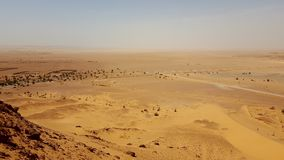 Landscape of the desert sahara algeria royalty free stock image