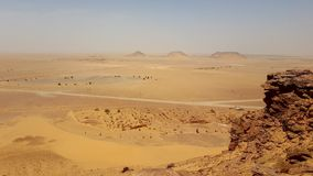 Landscape of the desert sahara algeria stock images