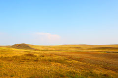 Landscape of the deserted steppe. Kazakhstan. Royalty Free Stock Photos