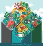 Landscape Design Concept Stock Image