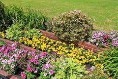 Landscape design. Decoration flower beds Royalty Free Stock Image