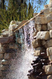 Waterfall. Landscape design details Royalty Free Stock Photography