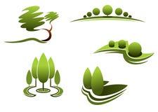 Landscape design elements Stock Photos