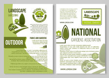 Landscape design and gardening poster template Stock Photo