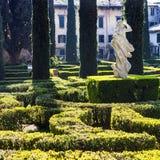 Landscape design of Giusti Garden in Verona city Stock Images