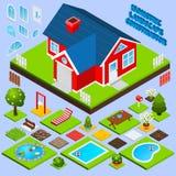 Landscape Design Isometric Stock Image
