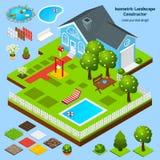 Landscape Design Isometric Royalty Free Stock Image