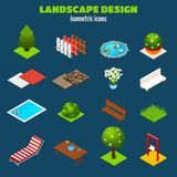 Landscape Design Isometric Icons Royalty Free Stock Photos