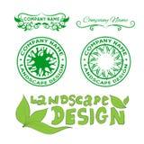 Landscape design logos Stock Photography