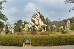 Landscape design in Million Years Stone Park in Pattaya, Thailand Royalty Free Stock Photography