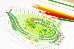 Landscape Design Plan Stock Photography