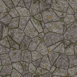 Landscape design from stones in grass. wallpapers pattern Royalty Free Stock Image