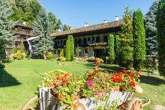 Landscape design Troyan Monastery in Bulgaria Royalty Free Stock Photos