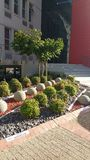 Landscape Design. Landscape Using coloured stone and concrete balls royalty free stock photo