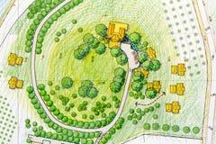 Landscape Designs Blueprints Royalty Free Stock Photos