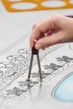 Landscape Designs Blueprints For Resort Stock Photography