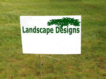 Landscape designs sign Stock Photos