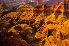 Landscape detail view of Grand canyon, Arizona Royalty Free Stock Photos
