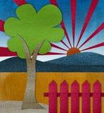 Landscape of die cut paper color Stock Photos