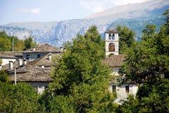 Landscape of Dilofo village in central Zagori Royalty Free Stock Photo