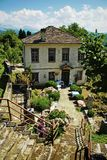 Landscape of Dilofo village in central Zagori Royalty Free Stock Image