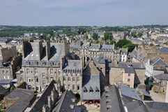 Landscape of dinan(britanny). The slate-grey roofs of dinan(britanny royalty free stock photo