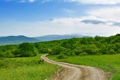 Landscape, dirt road Royalty Free Stock Photo